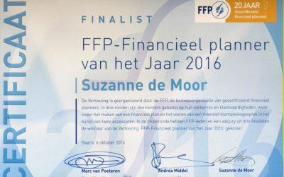 Suzanne de Moor runner-up financieel planner van het jaar 2016